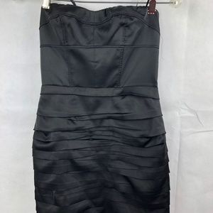 Express Little Black Satin Dress Size 0 NEW NWT